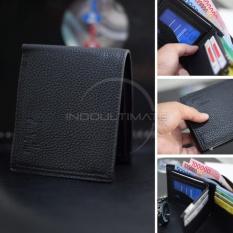 Ultimate Dompet Pria Kulit Sintetis Import Berresliting/Slim/Tempat Uang/Fashion Men Short Wallet With Zipper IM FS 70201 - Black