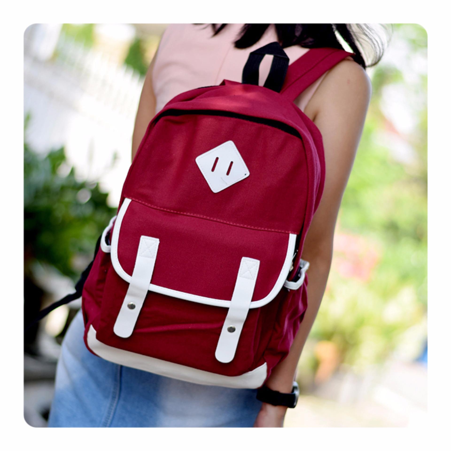 Ultimate Tas Pria   Wanita JS-8191 - Red   Tas Pria Ransel Backpack Sekolah 64bc220e37