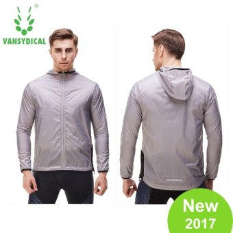 VANSYDICAL Men Outdoor Sun Protection Clothing SunscreenWindbreaker UV-proof Waterproof Thin Jacket Skinsuits