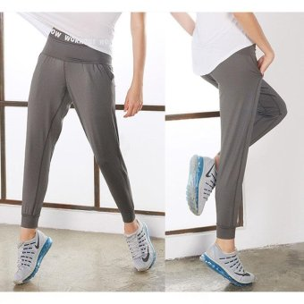 VANSYDICAL Women Fashion Casual Ankle-tied Pants Quickly DryBreathable Workout Running Fitness Harem Pants Slacks - intl