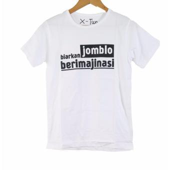 Detail Gambar Vanwin - Kaos Cewek / T-Shirt Wanita / Tumblr Tee Jomblo Imajinasi - Putih dan Variasi Modelnya