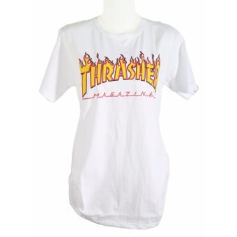 Vanwin - Kaos Cewek / Tumblr Tee / T-Shirt Wanita Fire Trasher - Putih. >>>>