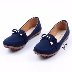 Vasco Sepatu Flat Shoes Loafers BV01 - Navy