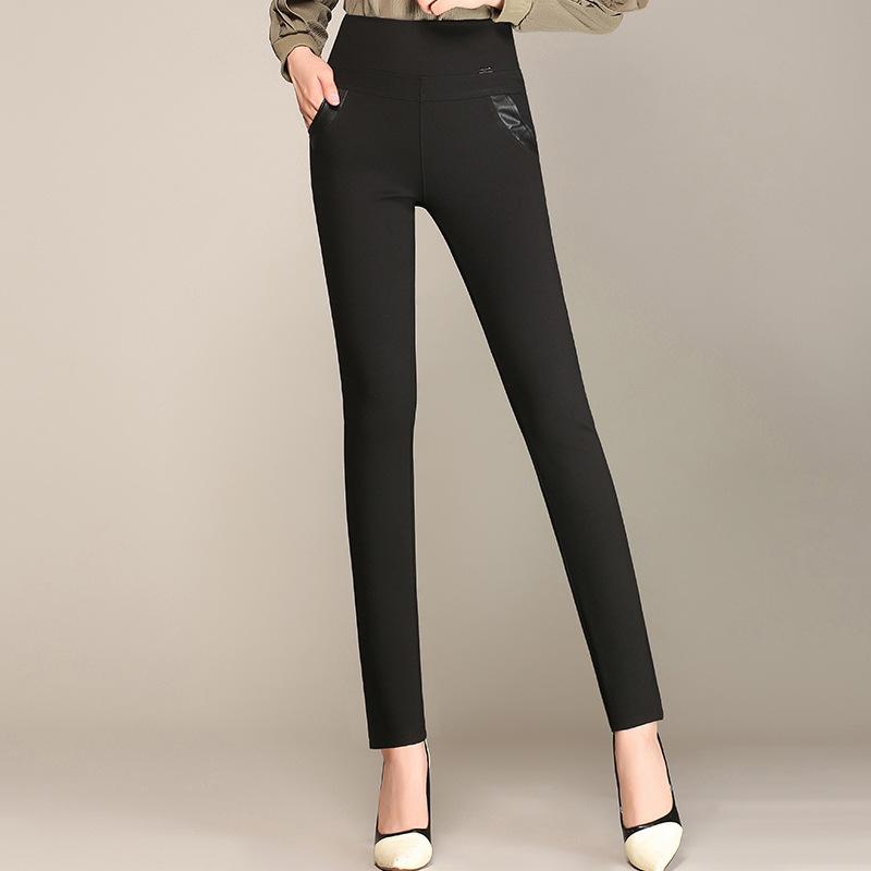 Versi Korea adalah pinggang tipis pakaian luar bottoming celana celana baru (Hitam)