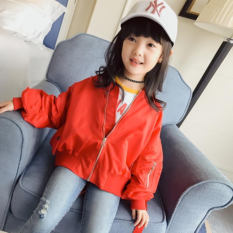 Flash Sale Versi Korea dari anak-anak baru lengan panjang gadis jaket mantel musim gugur