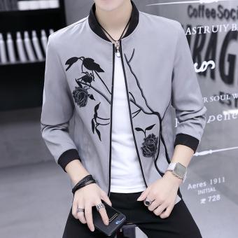 Cari Bandingkan Versi Korea dari bordir musim gugur baru jaket pria jaket (Abu-abu