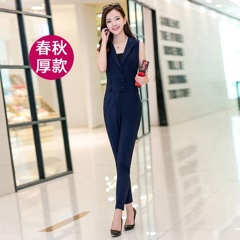 Shopping Comparison Versi Korea dari dada dibungkus Slim tipis secara signifikan kaki celana panjang (Angkatan