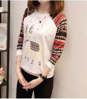 ... Hitam Source · Pencarian Termurah Versi Korea dari huruf leher bulat longgar baru lengan panjang t shirt