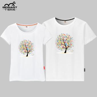 Terbaik Murah Versi Korea dari katun lengan pendek yard besar layanan kelas t-shirt (