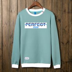 Versi Korea dari lindung nilai lengan panjang mahasiswa t-shirt sweater (Danau Biru)