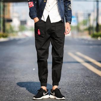 Gambar Versi Korea dari musim gugur baru Slim celana olahraga celana panjang pria celana kasual (