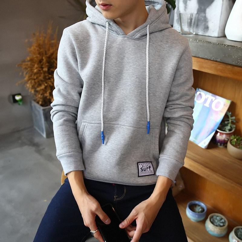 Flash Sale Versi Korea dari musim gugur pria berkerudung pullover sweater (Y19 abu-abu