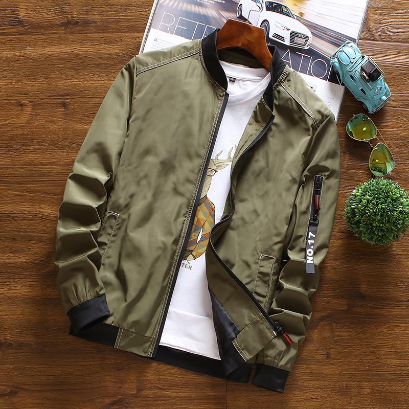 Versi Korea dari Musim Semi dan Musim Gugur laki-laki Slim tampan jaket (  Tentara c67b1e9a67