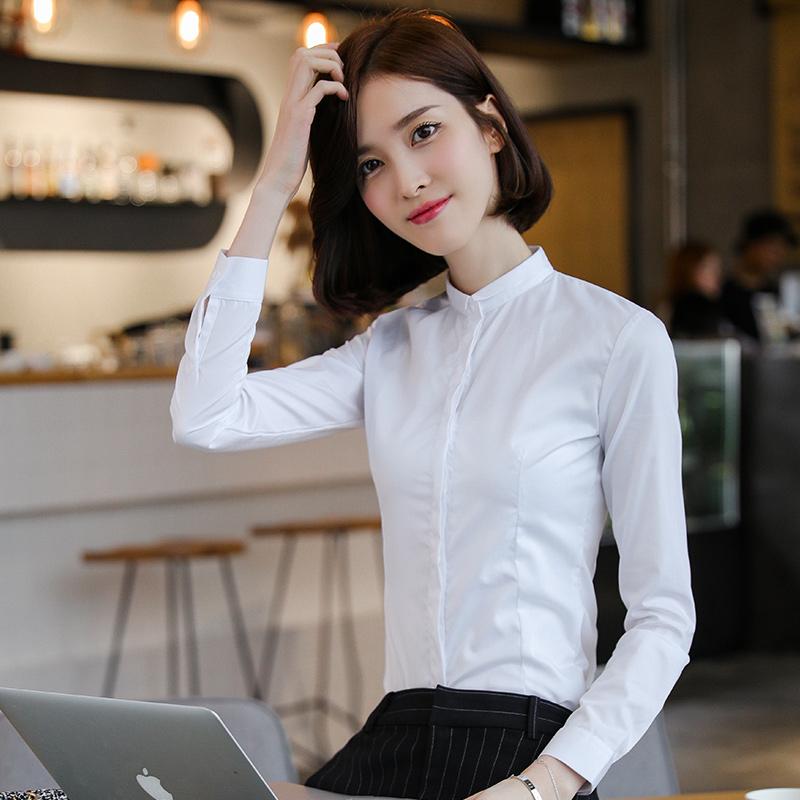 Warna Solid Lengan Panjang T-shirt Baju Dalaman (Putih. Source .