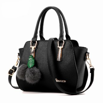Vicria Tas Branded Wanita - High Quality PU Leather Korean Elegant Bag Style + Pompom -