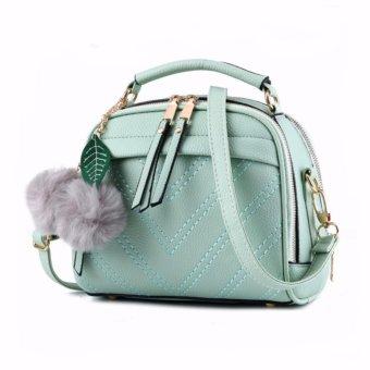 Vicria Tas Branded Wanita With Pompom - High Quality PU Leather Korean Elegant Bag Style BB2073