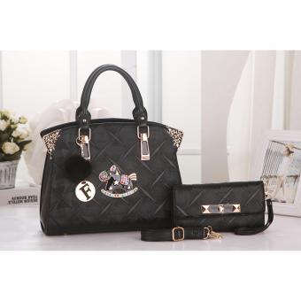 Vicria Tas Import Wanita 2in1 High Quality PU Leather Korean Elegant Bag Style Tas Branded 502