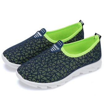 Victory Woman Running Shoes fashion Leisure sports Casual slip-onWalking shoes(Dark blue) - intl - 2