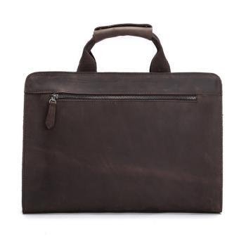 Vintage genuine crazy horse leather Men's briefcase messenger bag laptop bag shoulder bag cross body bag - intl - 3