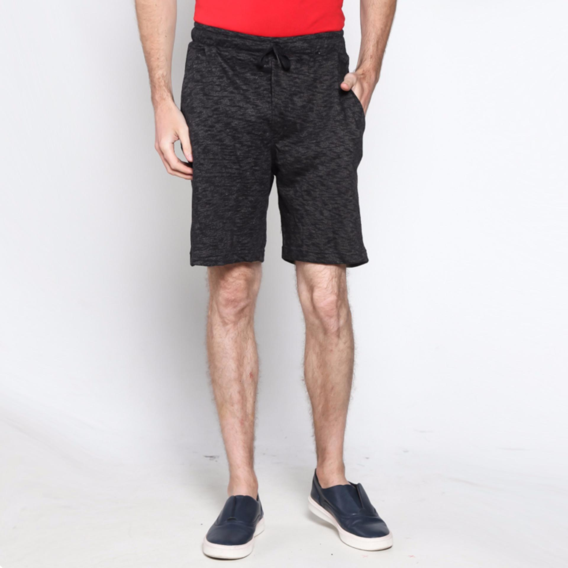 Vm Celana Pendek Pria Terry Santai Hitam Short Pant Spec Aglint Cargo Coklat