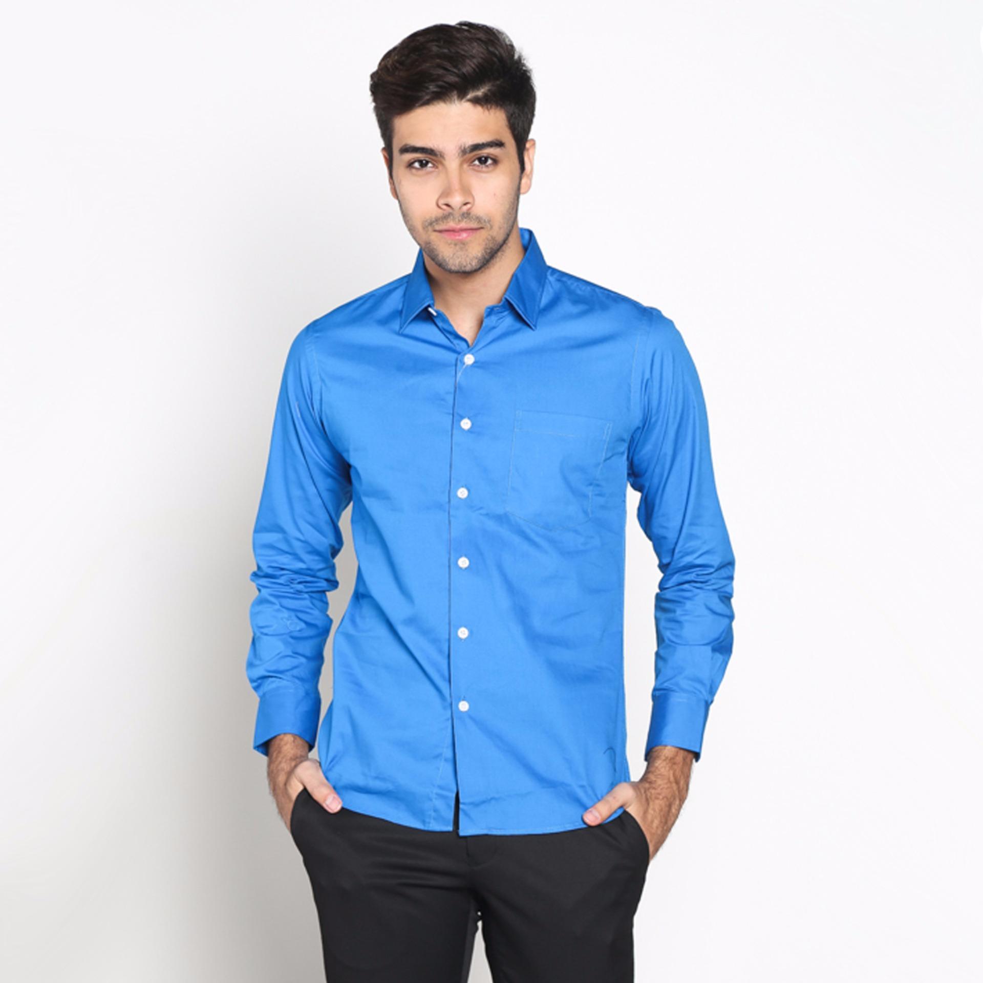 Vm Kemeja Formal Polos Slimfit Panjang Royal Blue Daftar Harga Fbw Clayton Long Sleeve Batik Shirt Cokelat