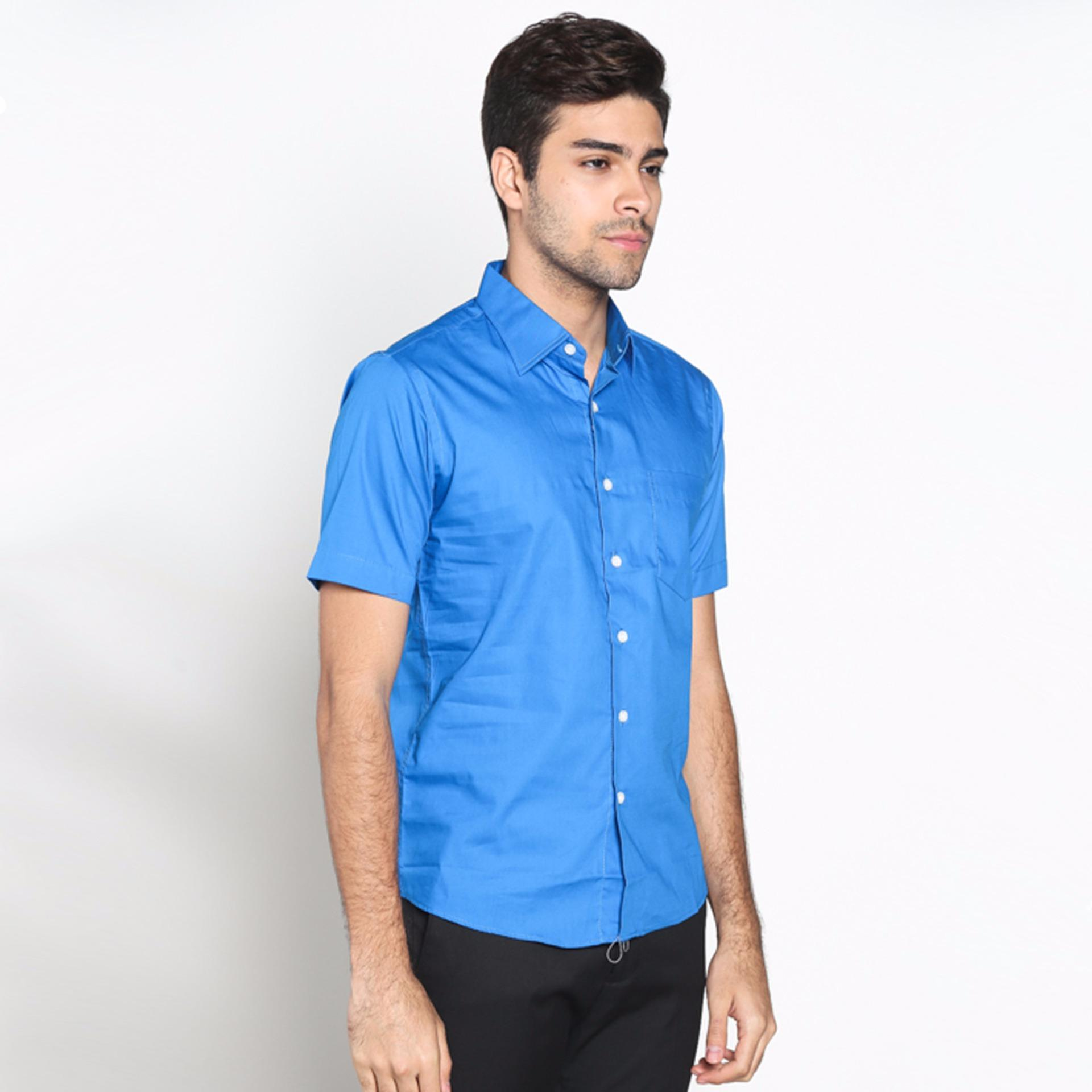 Vm Kemeja Formal Polos Slimfit Panjang Royal Blue Daftar Harga Fbw Clayton Long Sleeve Batik Shirt Cokelat Pendek Biru Slim