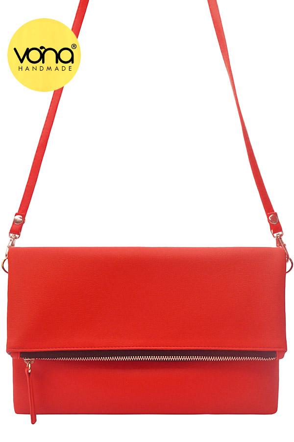 VONA Pitta (Merah) - Tas Wanita Selempang Sling Bag Clutch Crossbody Kecil