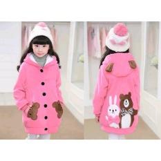 Vrichel Collection - Jaket anak perempuan Bear & bunny (pink)