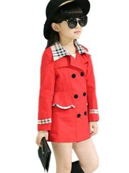 Vrichel Collection Jaket Anak Perempuan (Merah) - 2 .