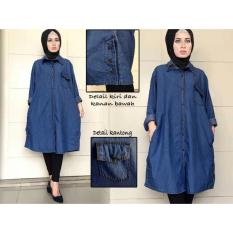 Harga Vrichel Collection Overall Jeans Meta Biru Tua PriceNia com Source · Vrichel Collection Tunik Jeans Mayra Biru Tua
