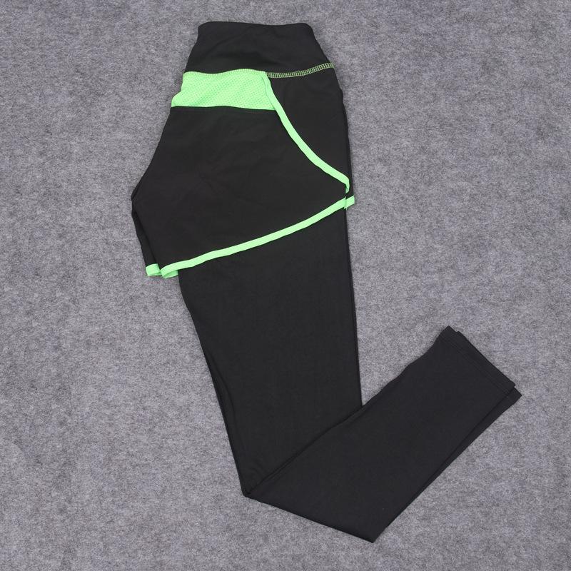 Wanita Mengenakan Celana Pendek Sumbu Peregangan Celana Ketat Legging Latihan Kebugaran Olahraga Dua .