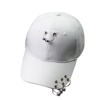 Wanita Pria Fashion Baseball Topi Besi Ring Snapback Hip Hop Flat Hat WH- Intl ...