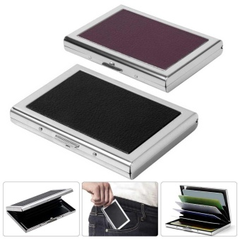 Waterproof Stainless Steel Business ID Credit Card Pocket HolderCase Wallet Box - intl