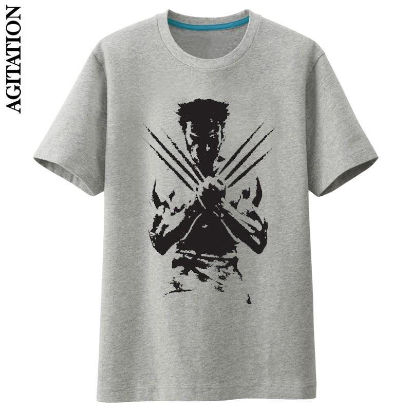 Cheap online Wolverine kapas baru leher bulat lengan pendek t-shirt (Abu-abu