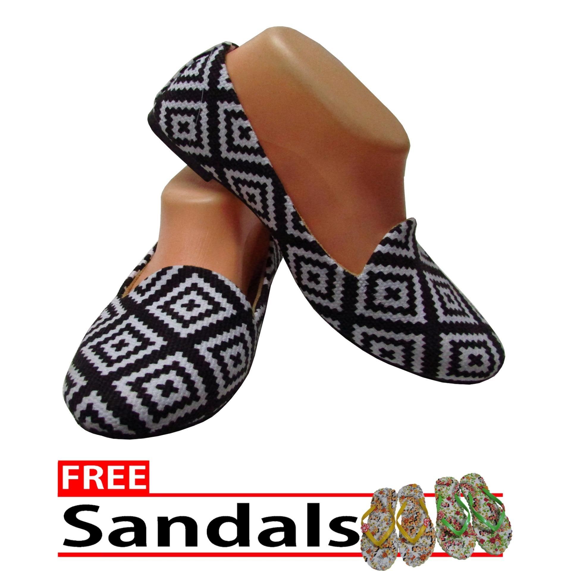 Woman Choice Flat Shoes Develop 14- Sepatu Balet -Multicolor Free Sandals .