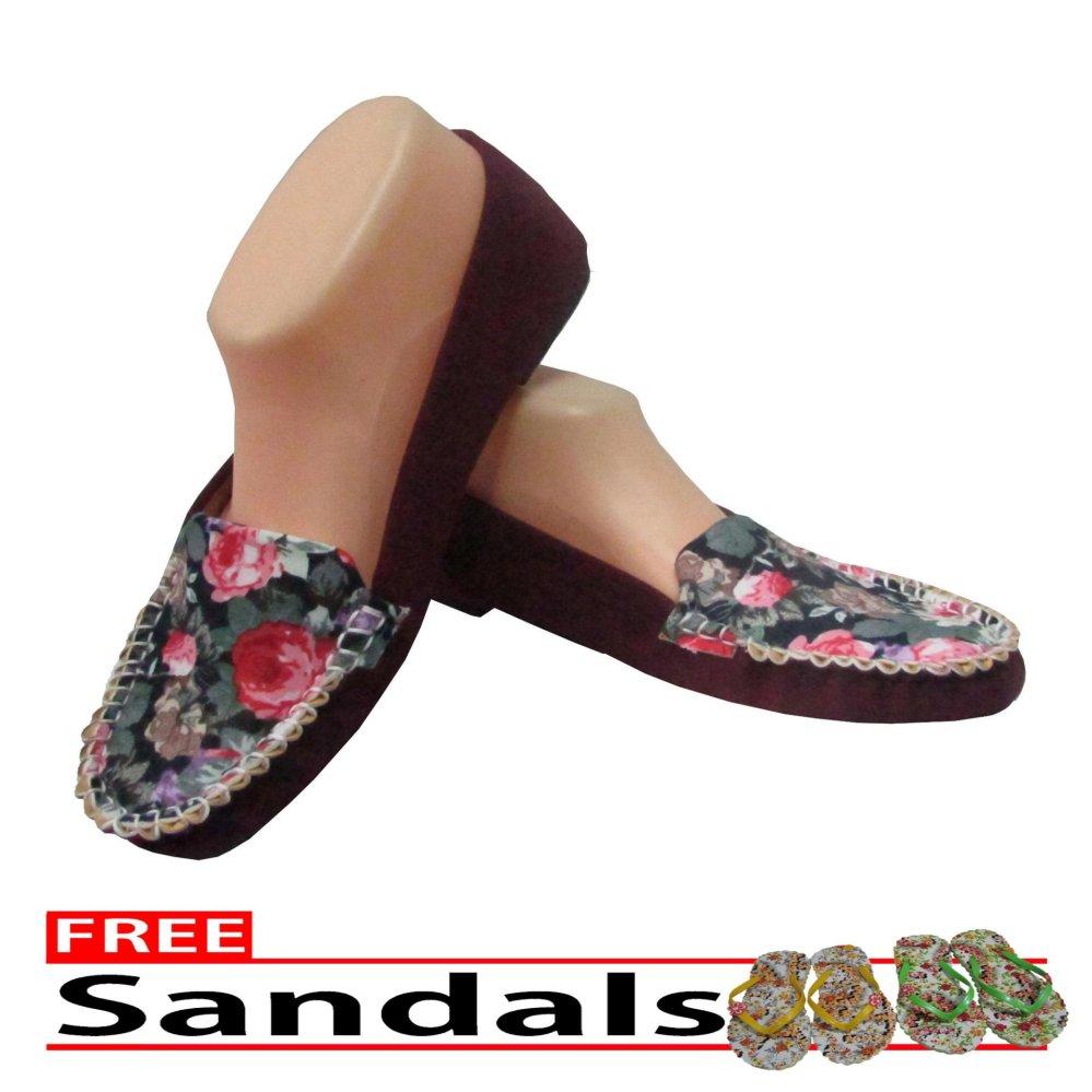 Woman Choice Flat Shoes NS- Sepatu Balet - Merah Free Sandals .