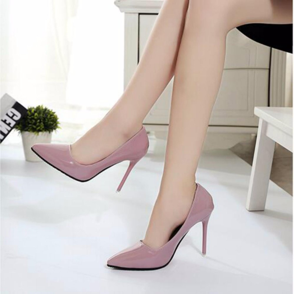 Woman Sexy Pointed Toe Assorted High Heels Women Evening Shoes Ladies Pink - intl .