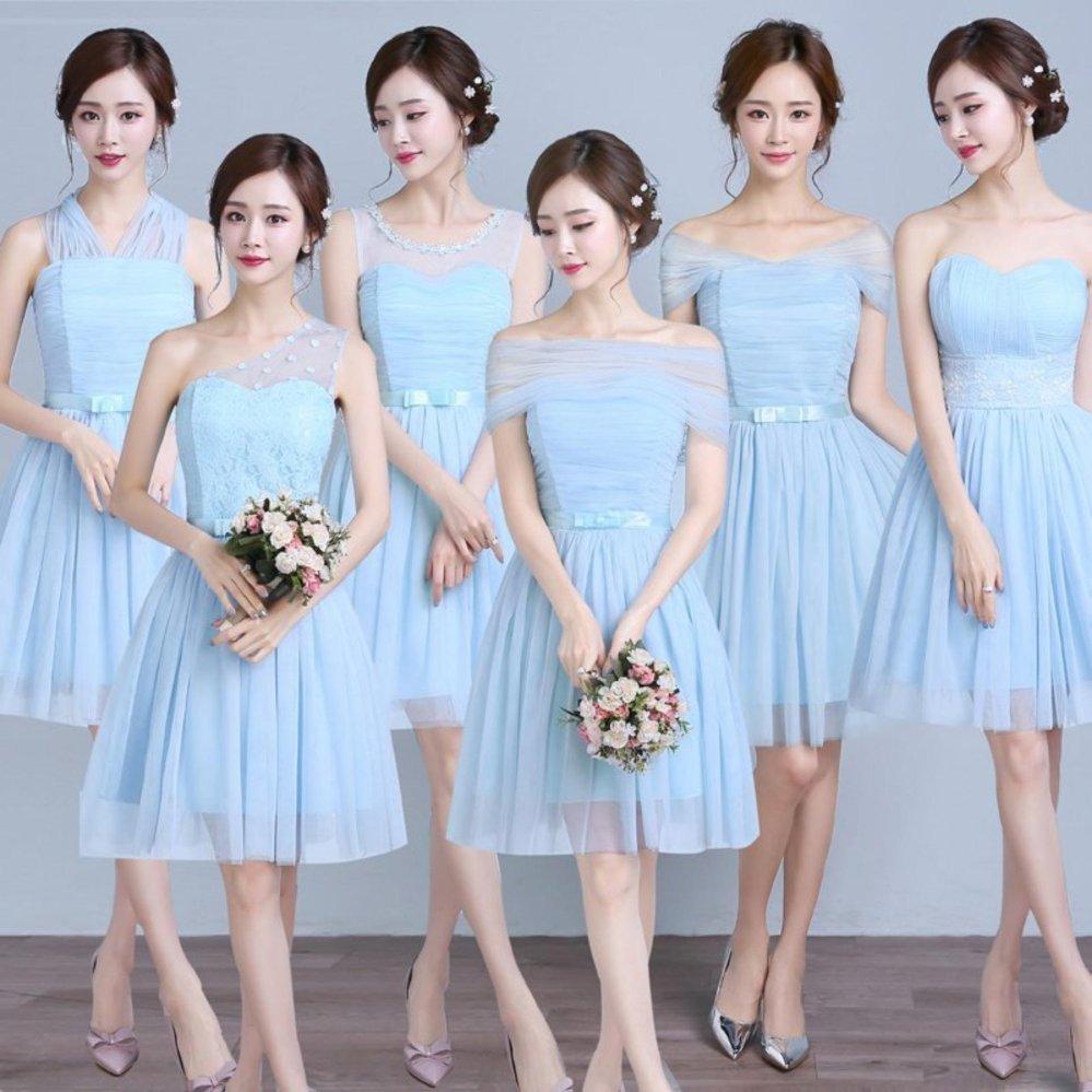 ... Women Fashion Elegant Wedding Bridesmaid Dress Mini Party Cocktail Party Dress ( A) - intl ...