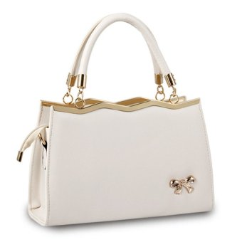 Women Handbag Top Handle Bags Messenger Bags PU Leather Tote Crossbody Purses L16035 (Beige)