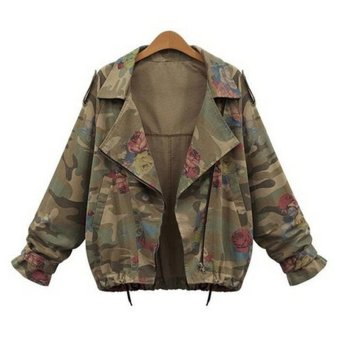 Women Jackets Cardigans Army Green Zipper Army Green - Intl - intl