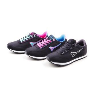 Women Teaberry Hitam Merah Fushia Running Shoes - 3