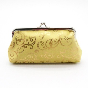 Womens Small Wallet Card Holder Coin Purse Clutch Handbag Bag -Gold - intl