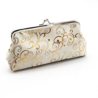 Womens Small Wallet Card Holder Coin Purse Clutch Handbag Bag -White - intl