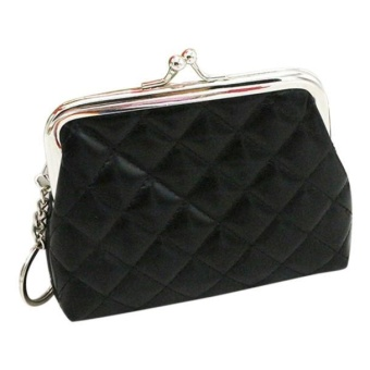 Womens Wallet Card Holder Coin Purse Clutch Bag Handbag -Black -intl