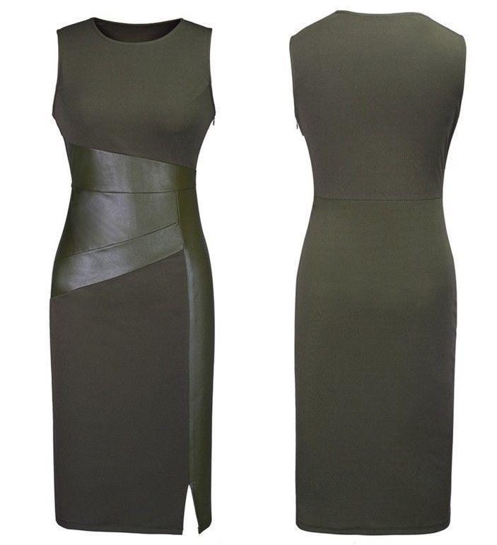 Wonderful Power 3 Colors Brand New New Sexy Women Evening Dress Sleeveless Slim Fashion Bodycon Party
