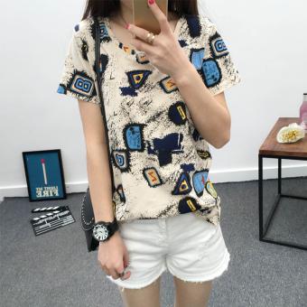 Celana Capri Wanita Motif Cetak Kotak Kotak Coretan Kartun Warna ... - Timbangan Digital