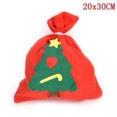 Xmas Bag Tas Hadiah Natal Besar Promosi Bag Santa Claus Drawstring Bag 20*30 Cm-Intl