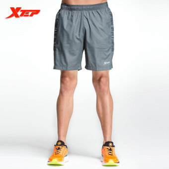 XTEP Brand Men's Fashion Short Pants Casual Shorts Men's Quick Dry Short Pants Athletic Tennis Gym Tennis Shorts (Grey) - intl