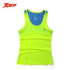 XTEP Menjalankan Kebugaran Sleeveless Rompi Musim Panas Gaya Yoga Shirt TOP Cepat Kering Wanita Wanita Gym Sport Shirt (hijau) -Intl