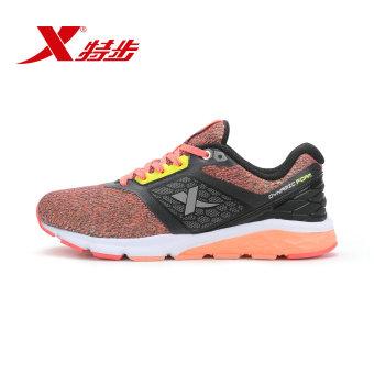 Beli Xtep nyaman musim gugur baru bernapas sepatu olahraga sepatu wanita (Merah dan hijau) Murah